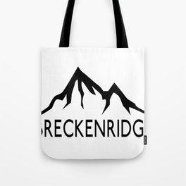 BRECKENRIDGE COLORADO SKIING SKI MOUNTAINS SNOWBOARD Tote Bag