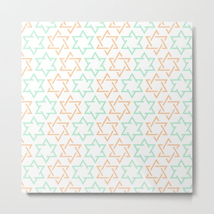 Star Of David Pattern  #society6 #decor #buyart #artprint Metal Print