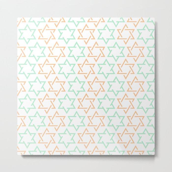 Star Of David Pattern  #society6 #decor #buyart #artprint Metal Print
