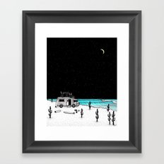 Moose Night Out Framed Art Print