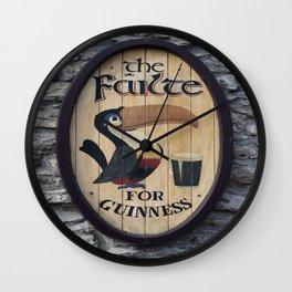 Wooden Guinness Sign Wall Clock