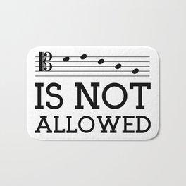 Decaf is not allowed (tenor version) Bath Mat