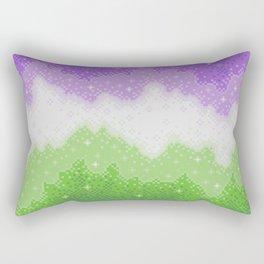 Genderqueer Pride Galaxy Rectangular Pillow