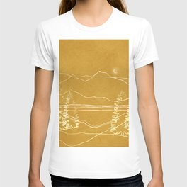 Minimalist Landscape Line Art I T-shirt
