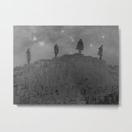 Walking the Giants Causeway Metal Print