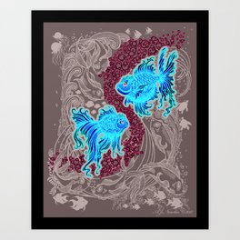 """Under the Sea"" (in gray background) Art Print"
