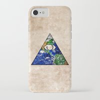 all seeing eye iPhone & iPod Cases featuring All Seeing Eye by Spooky Dooky