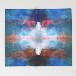 The white light | Abstract painting Throw Blanket