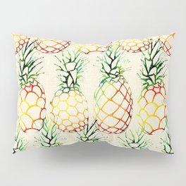 Burlap Pineapples Pillow Sham