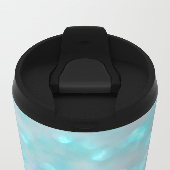 Sweetly Aqua Metal Travel Mug