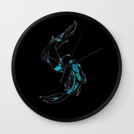 Koi Fish Reversed Colors Wall Clock
