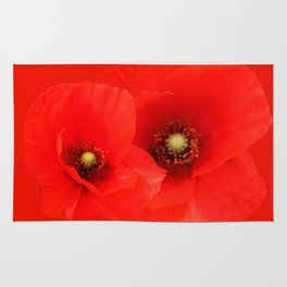 Two Poppies Rug