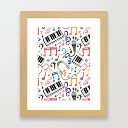 Good Beats - Music Notes & Symbols Framed Art Print