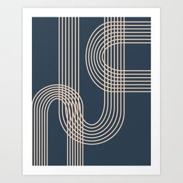 Lines in Midnight Art Print