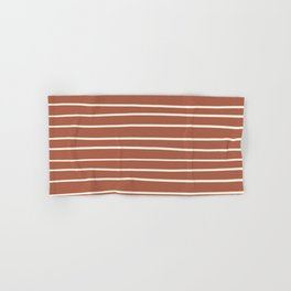 Dover White 33-6 Hand Drawn Horizontal Lines on Red River 4-21 Hand & Bath Towel