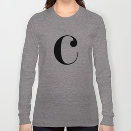 "Monogram Series Letter ""c"" Long Sleeve T-shirt"