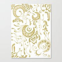 art nouveau Canvas Prints featuring Nouveau by CyberneticGhost