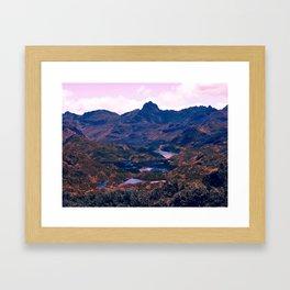 Landscape of Lakes Framed Art Print
