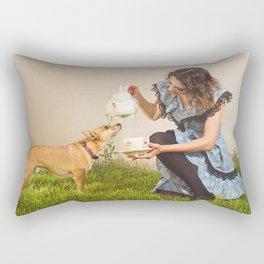 tea with alice Rectangular Pillow