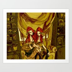 The Conjoined Twins in the Museum of Monstrosities  Art Print