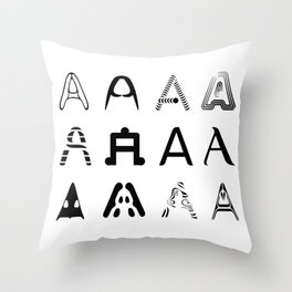 A is the first letter Throw Pillow