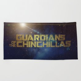 Guardians of the Chinchillas Beach Towel