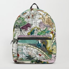 World sky map wall art 1705 dorm decor mappemonde skymap Backpack