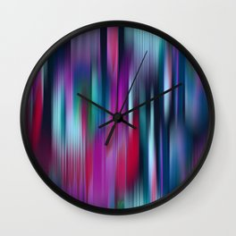 Colorful Motion Blur Wall Clock