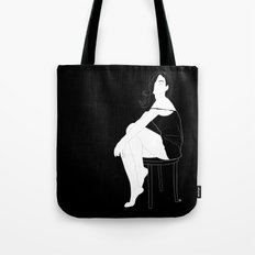 Sexy woman - In black Tote Bag