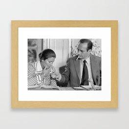 Chirac Veil on his cunts! Framed Art Print