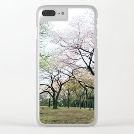 twisty cherry blossom trees Clear iPhone Case