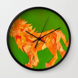 Lion collage of paint samples Wall Clock