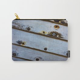Old White Wooden Boat Carry-All Pouch