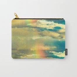 Rainbow Blue Sky Clouds Carry-All Pouch