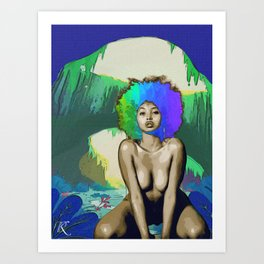 Rainbow Cavern  Art Print