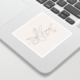 Botanical illustration line drawing - Birdie I Sticker