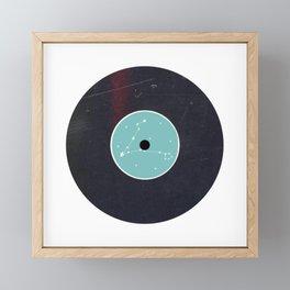 Vinyl Record Star Sign Art | Pisces Framed Mini Art Print