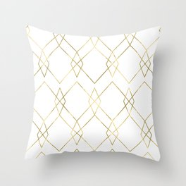 Gold Geometric Throw Pillow