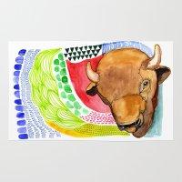 buffalo Area & Throw Rugs featuring BUFFALO by dorc
