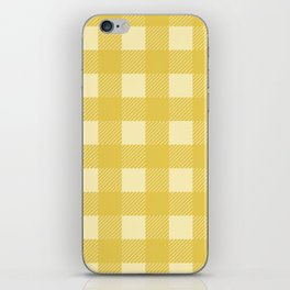 Mustard Yellow Buffalo Checks iPhone Skin