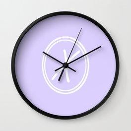 Monogram - Letter X on Pale Violet Background Wall Clock