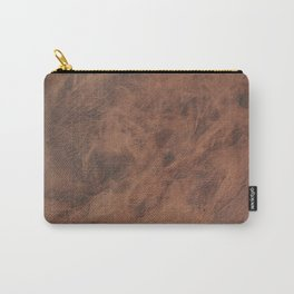 Old Tan Leather Print Texture | Cowhide Carry-All Pouch