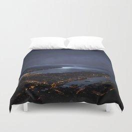 Bergen At Night Duvet Cover