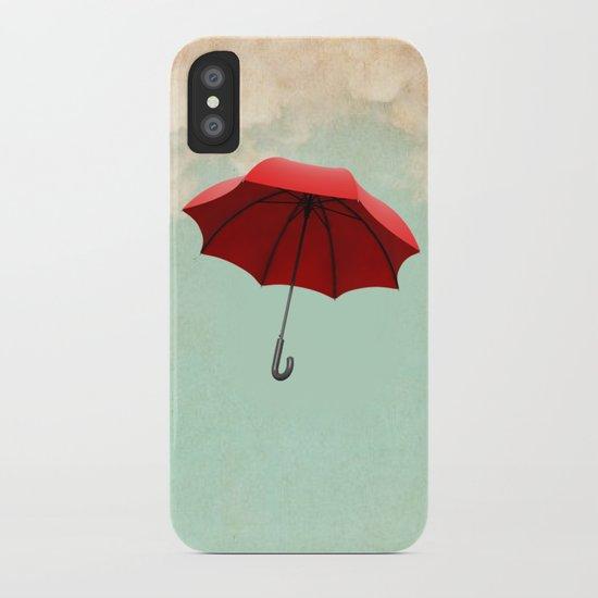 Red Umbrella iPhone Case