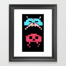 Captain America  & Red Skull space invaders Framed Art Print