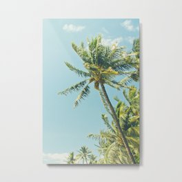 Kenolio Beach Hawaiian Coconut Palm Trees Kīhei Maui Hawaii Metal Print