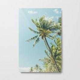 Kenolio Beach Hawaiian Coconut Palm Trees Kīhei Maui Hawaii Metal Print