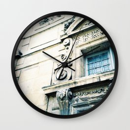 Windows and Faces in Montmarte Wall Clock