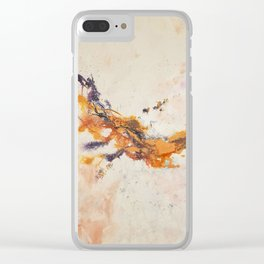 Dissolving ribbons of color Clear iPhone Case