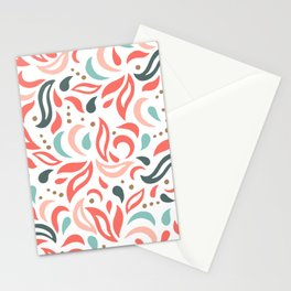 Coral Fest Stationery Cards
